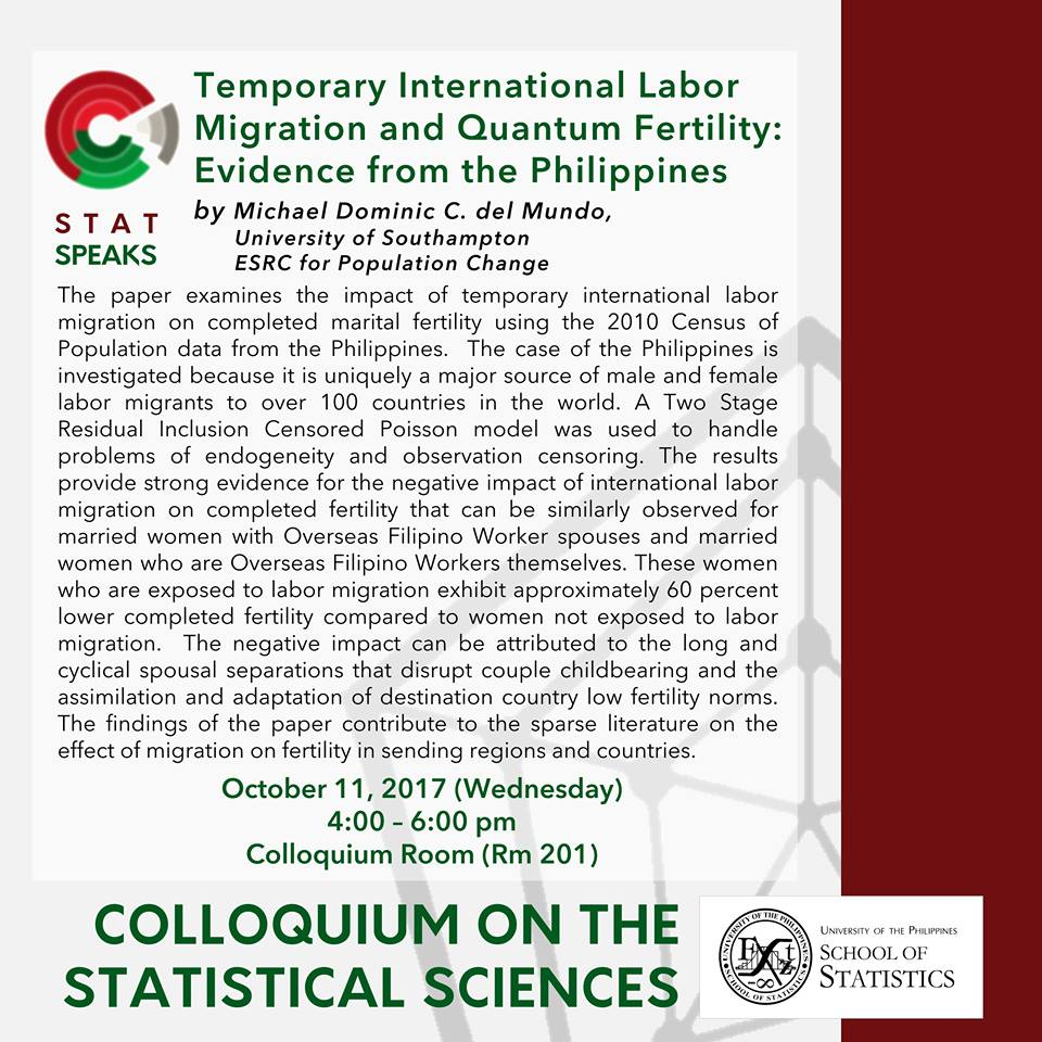 Image for Temporary International Labor Migration and Quantum Fertility: Evidence from the Philippines