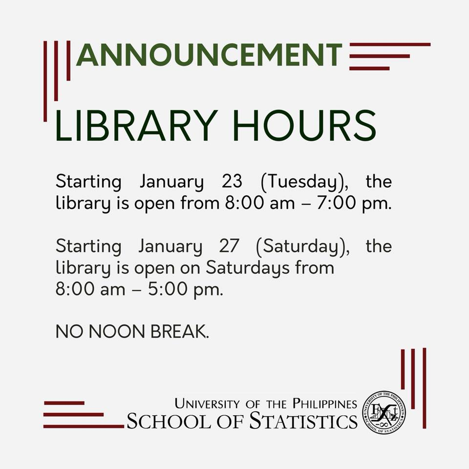Image for New Library Office Hours