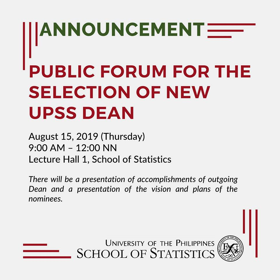 Image for Public Forum for the Selection of New UPSS Dean