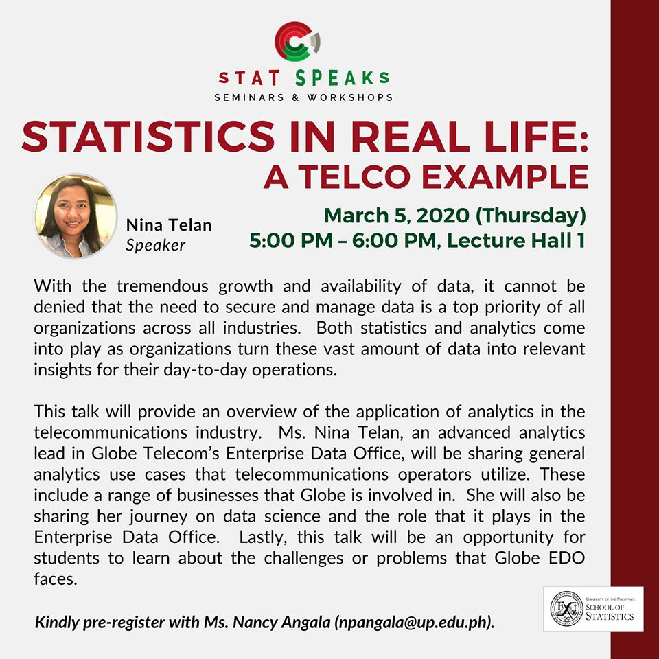 Image for STAT SPEAKS: Statistics in Real Life: A TELCO Example