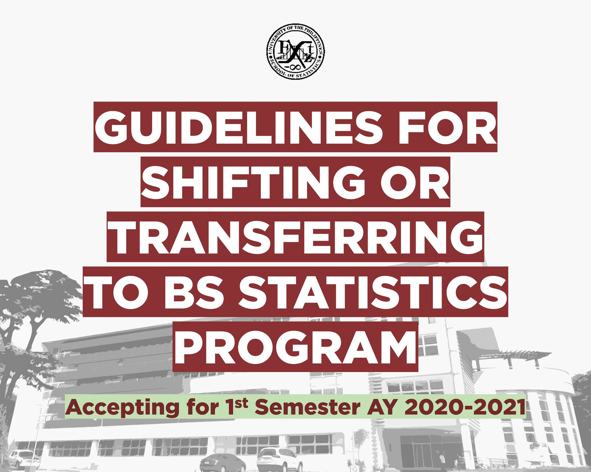 Image for GUIDELINES FOR SHIFTING/TRANSFERRING to BS STATISTICS PROGRAM